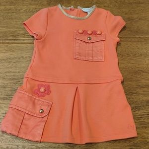 Never Worn Little Marc Jacobs Coral Dress, 9 month